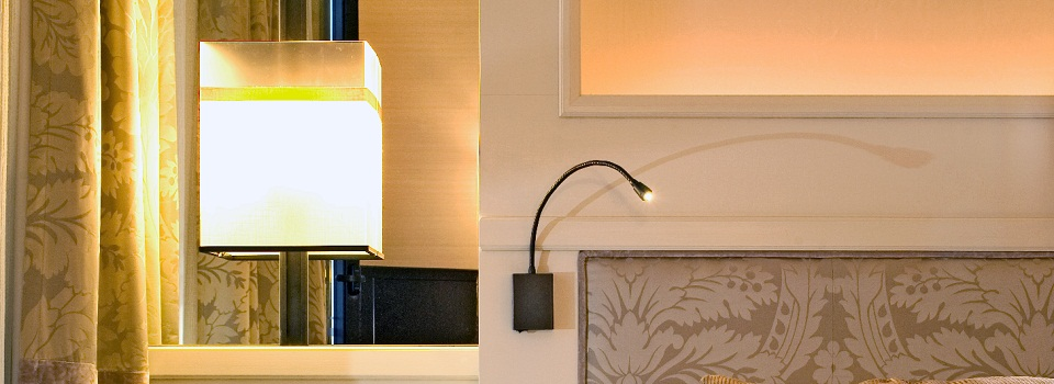 Wall Lamp and Bedside reading Lamp in the Villa Itália Hotel
